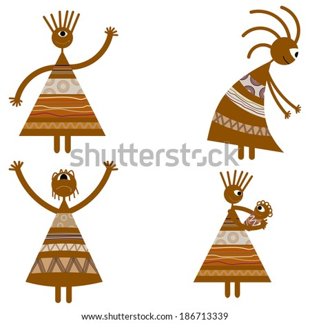 Tribal African womans - stock photo