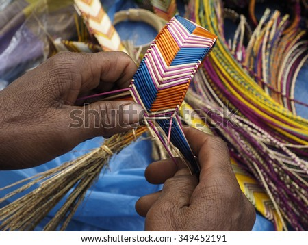 Tribal Woven Bracelet - stock photo
