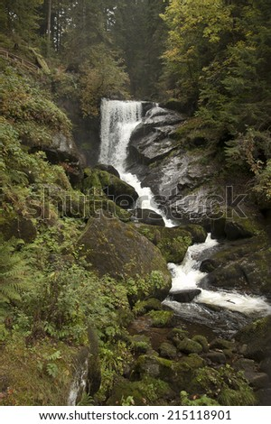 Triberg Waterfalls in the Black Forest (Schwarzwald) Region of Southern Germany