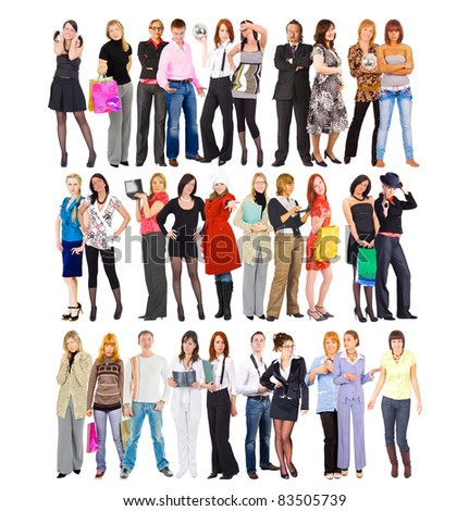 Tribes of business - stock photo