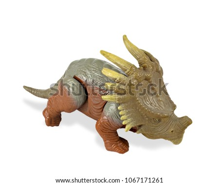 triceratops dinosaurs toy isolated on white stock photo royalty
