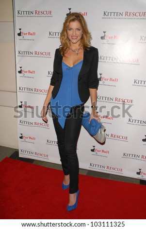 "Tricia Helfer at Kitten Rescue's ""Fur Ball at the Skirball"" celebrating 10,000 cats saved, Skirball Center, Los Angeles, CA. 12-05-09"