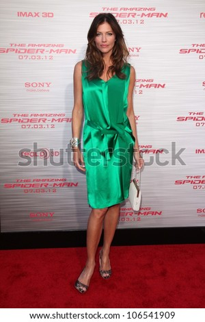 "Tricia Helfer at ""The Amazing Spiderman"" World Premiere, Village Theater, Westwood, CA 06-28-12"