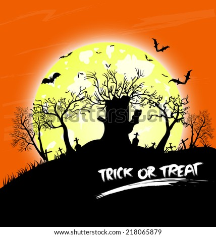 Trick or treat halloween - stock photo