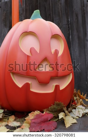 Trick or Treat, Halloween, street decoration, Pumpkin lantern,America,American - stock photo