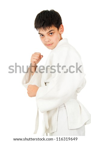 tricks guy in wrestling isolated - stock photo