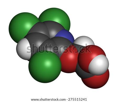 Triclopyr Herbicide Broadleaf Weed Killer Molecule