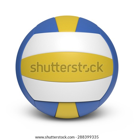 Tricolor volleyball leather ball - 18 segments