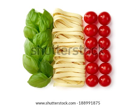 Tricolore, italian food - stock photo
