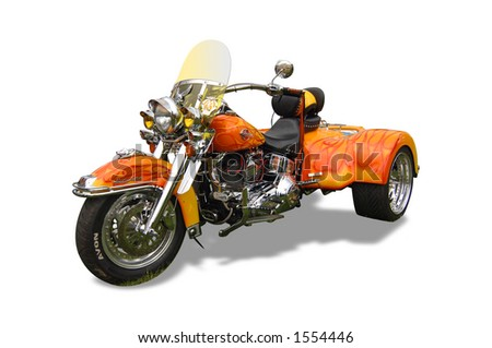 Tricycle Chopper Harley Davidson - stock photo