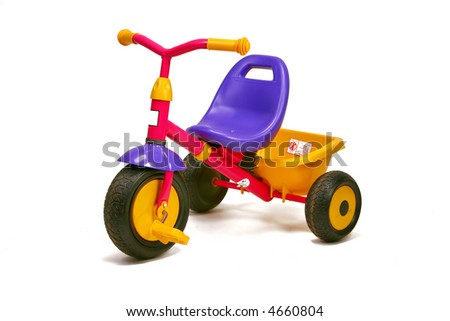 tricycle - toddler bike - stock photo