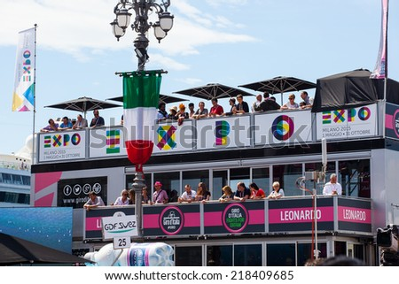 TRIESTE, ITALY -  JUNE, 01: View of Giro d'Italia stage before the final parade of 97th edition of the Giro d'Italia on November 01, 2014 - stock photo