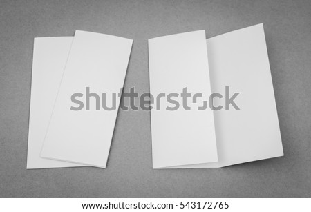 cardboard brochure holder template - trifold brochure stock images royalty free images