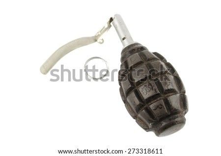 triggering the bomb - stock photo