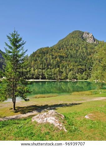 Triglav National Park near Kranjska Gora,julian Alps,Slovenia - stock photo