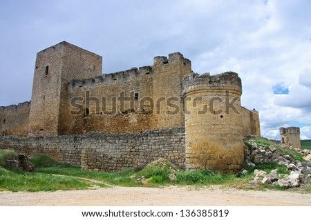 Trigueros del Valle castle - stock photo