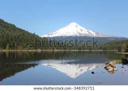 Trillium Lake, Oregon - stock photo