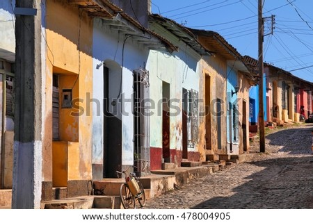 Trinidad, Cuba - the old town. UNESCO World Heritage Site.