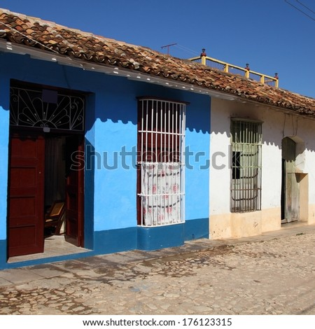 Trinidad, Cuba - the old town. UNESCO World Heritage Site. Square composition.
