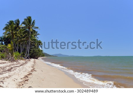 Trinity Beach,, Great Barrier Reef,, Queensland, Australia -2 - stock photo