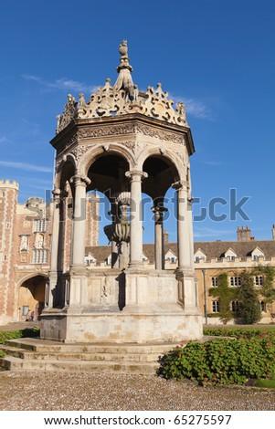 Trinity college in Cambridge, UK. - stock photo
