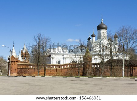 Trinity-Mariinskiy orthodox monastery (cloister) in town Egorevsk in Moscow. - stock photo