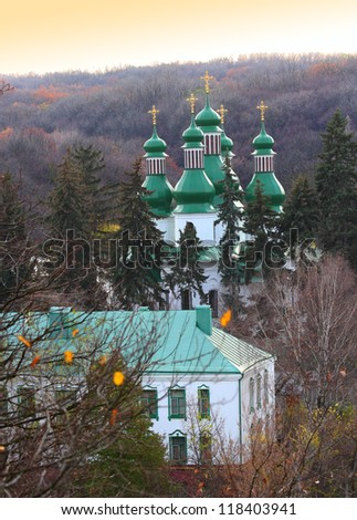 Trinity Monastery in Kitaevo in Kiev, Ukraine - stock photo