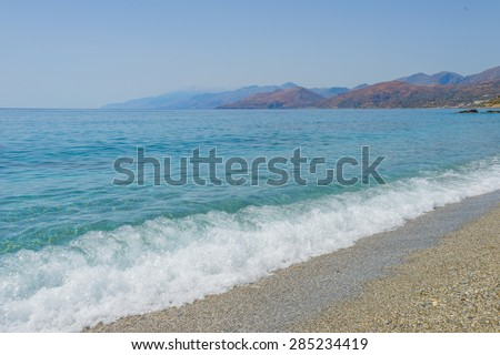 Triopetra beach, Crete. - stock photo