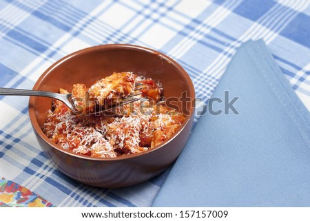 tripe, a typical dish of traditional Italian cuisine