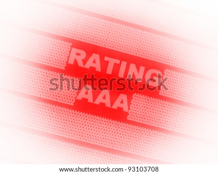 Triple Rating Aaa Stock Illustration 93103708 Shutterstock