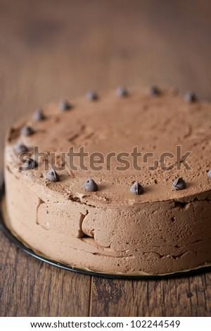 Triple chocolate cake - stock photo