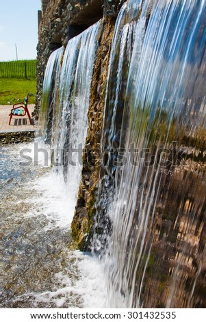 triple waterfall with cristal clean water