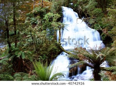 Triplet falls, Otway National Park, Australia - stock photo