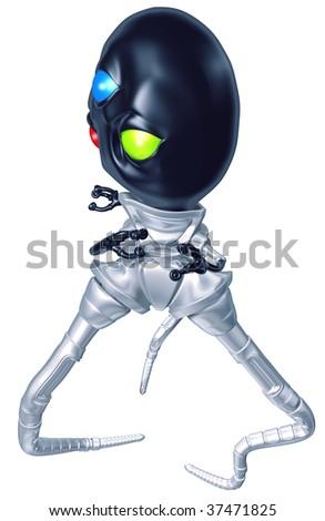 Tripodian Alien - stock photo