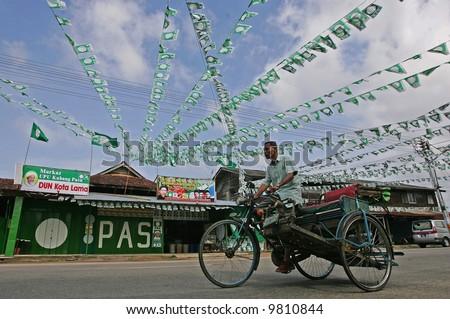 Trishaw - stock photo