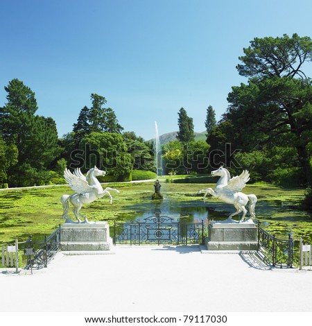 Triton's Lake, Powerscourt Gardens, County Wicklow, Ireland - stock photo