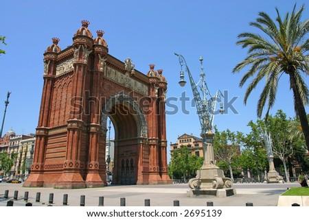Triumph Arch of Barcelona, Spain - stock photo