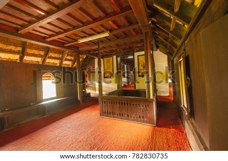 TRIVANDRUM, KERALA, INDIA, 12 NOVEMBER 2016 : An interior view of the Trivandrum Palace Museum.