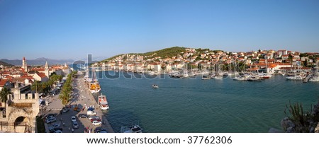 Trogir panorama - stock photo