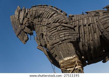 Trojan Horse in Canakkale Square,Turkey - stock photo