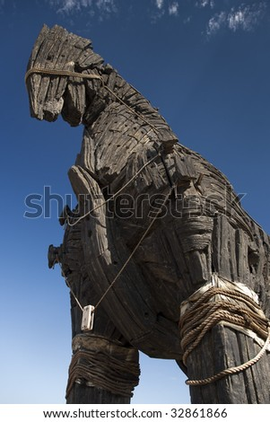 Trojan Horse in Canakkale Square,Turkey - stock photo