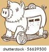 Trojan Horse Piggy Bank - stock photo