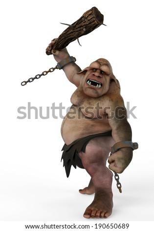 troll attackside attack - stock photo