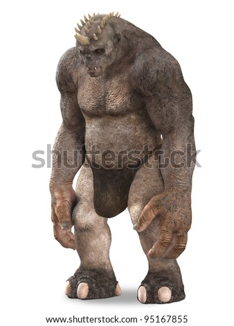Troll Standing still - stock photo