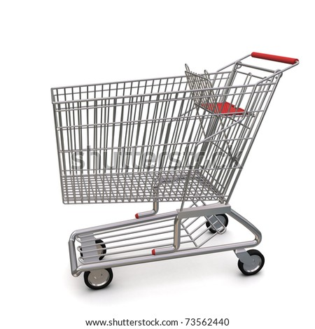 trolley from the supermarket - stock photo