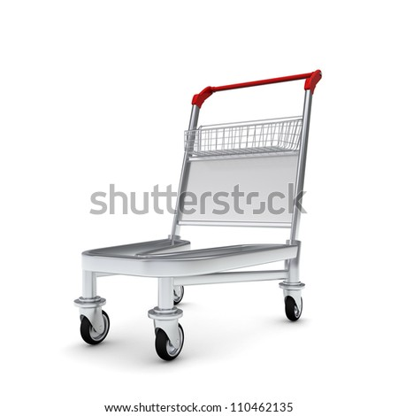 Trolley. Isolated on white background