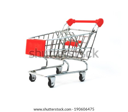trolley isolated on white background