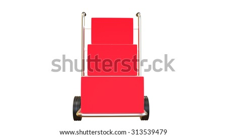 trolley with luggage