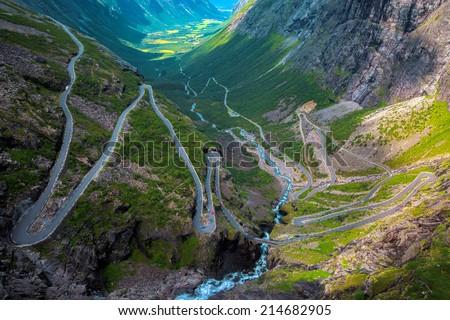 Trollstigen in Norway - stock photo
