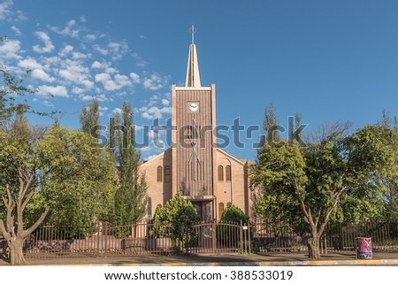 TROMPSBURG, SOUTH AFRICA - FEBRUARY 16, 2016: The Dutch Reformed Church in Trompsburg in the Southern Free State Province of South Africa